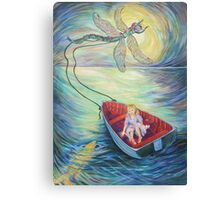 Girl in a Boat 1 Canvas Print