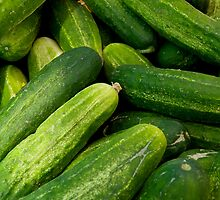 Cucumbers by Jeffrey  Sinnock