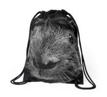 Whatcha Doin'? (B&W) Drawstring Bag