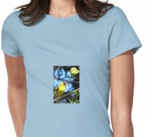 Goldfinch In The Dogwood Womens Fitted T-Shirt
