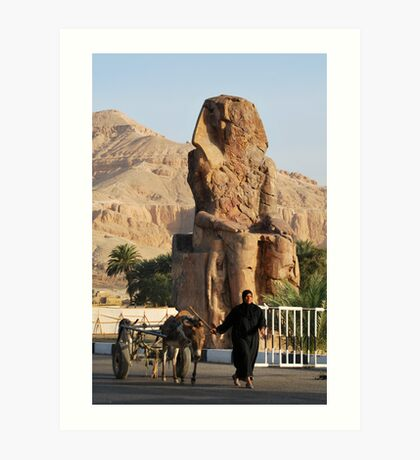 Walking by Memnon Colossus Art Print