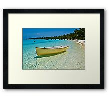 Yellow II - Cocos (Keeling) Islands Framed Print
