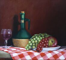 Still Life With Apple by Margaret Stockdale