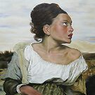 Orphan in the Cemetery after Delacroix by Margaret Stockdale