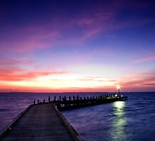 Light on the Jetty - Cocos (Keeling) Islands by Karen Willshaw