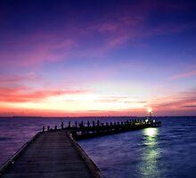 Light on the Jetty - Cocos (Keeling) Islands by Karen Willshaw