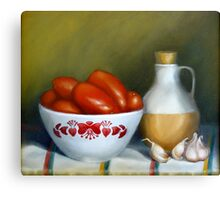 Romas, Garlic And Oil Canvas Print