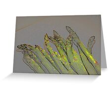 Asparagus Stalks Greeting Card