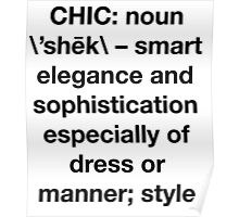 Definition of Chic (Sans Serif)  Poster