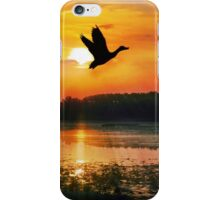Sunset on the Mississippi Flyway iPhone Case/Skin