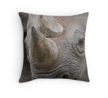 Eastern Black Rhinoceros Throw Pillow