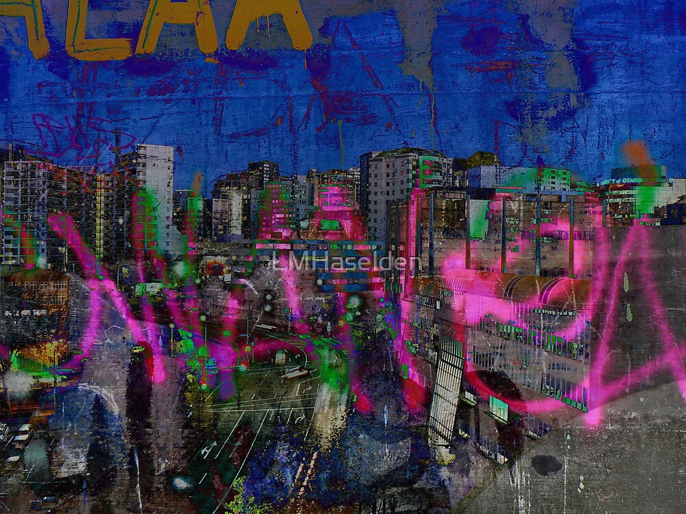 The Naked Neon of urban graffiti dreams. by Lynne Haselden