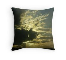 Cowra Sunset from travelling vehicle Throw Pillow