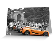 Selective coloured cars Greeting Card