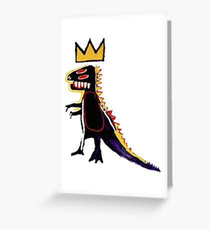 Basquiat Dinosaur Greeting Card