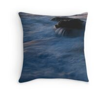 Spewing sea turtle Throw Pillow