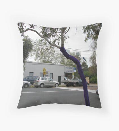 Eucalyptus Purpurea Throw Pillow