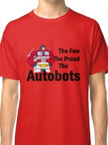 Transformers - The Few The Proud - Black Font Classic T-Shirt