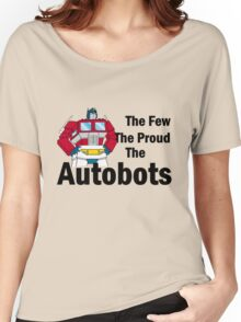 Transformers - The Few The Proud - Black Font Women's Relaxed Fit T-Shirt
