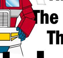 Transformers - The Few The Proud - Black Font Sticker