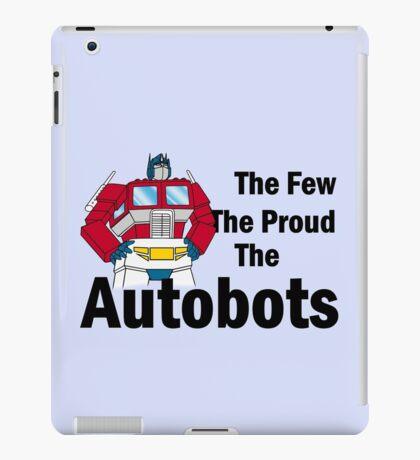 Transformers - The Few The Proud - Black Font iPad Case/Skin