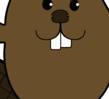 Beaver Love Letter Sticker