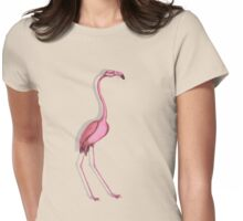 Flamingo. Womens Fitted T-Shirt