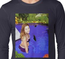 Sharks In The Swimming Pool Long Sleeve T-Shirt