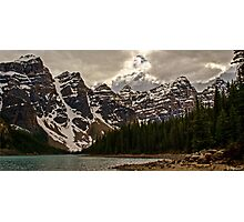 Moraine Lake Nestled In The Valley Of The Ten Peaks - Banff National Park Photographic Print