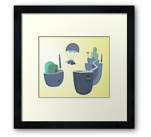 creature with parachute Framed Print