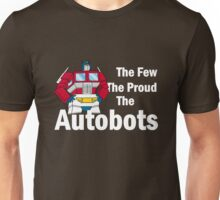 Transformers - The Few The Proud - White Font Unisex T-Shirt