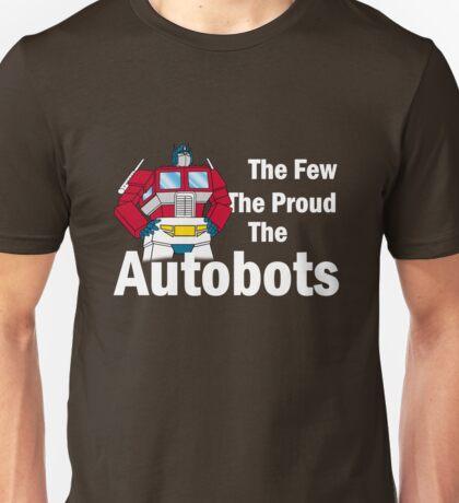 Transformers - The Few The Proud - White Font Unisex T-Shirt