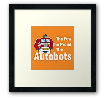 Transformers - The Few The Proud - White Font Framed Print
