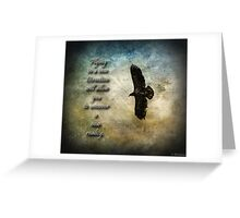 Flying In A New Direction Greeting Card