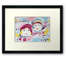 Autumn Sisters Framed Print