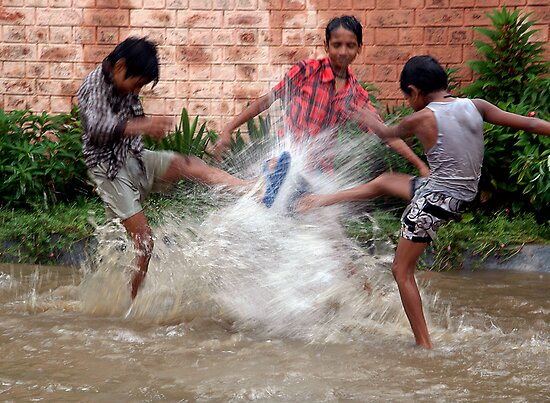 SUMMER RAIN FUN by RakeshSyal