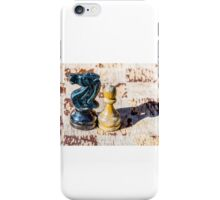 Chess Pawn and Knight - Veterans iPhone Case/Skin