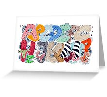 Untamed Alphabet Greeting Card