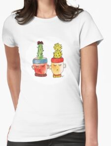 Cacti Couplet | Emma  Womens Fitted T-Shirt