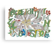 Garden Alphabet Canvas Print