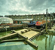Bristol Barge Dry Dock  by Rob Hawkins