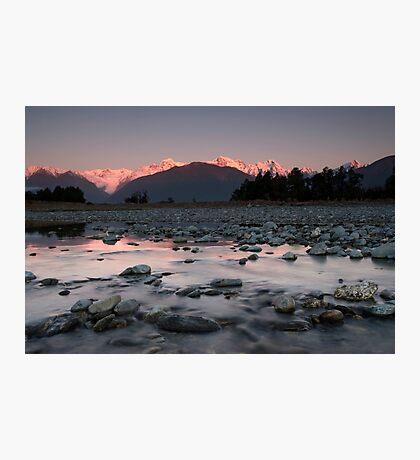 Fox Glacier, Sunset. Photographic Print