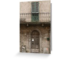 Door Greeting Card