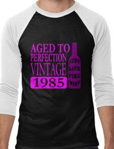 Vintage 1985 Aged To Perfection Men's Baseball ¾ T-Shirt