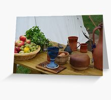 medieval still life? Greeting Card