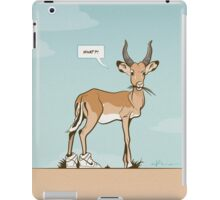 Impala wearing Sneakers iPad Case/Skin