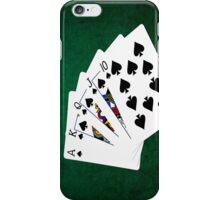Poker Hands - Royal Flush Spades Suit iPhone Case/Skin