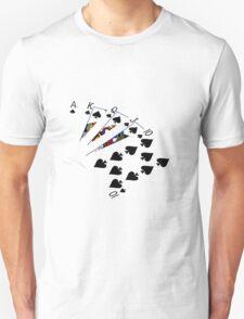 Poker Hands - Royal Flush Spades Suit T-Shirt