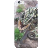 Colourful Chameleon Wrapped Around A Branch iPhone Case/Skin