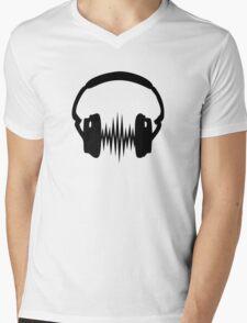Headphone, Music, Disco, Dance, Electro, Trance, Techno, Wave, Pulse,  Mens V-Neck T-Shirt